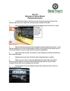 BA 176 – Winch Bumper Mount Disco2