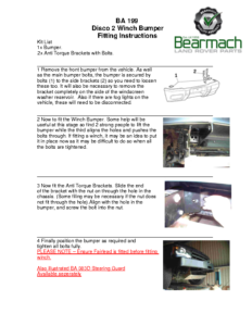 BA 199 – Winch Bumper Disco 2