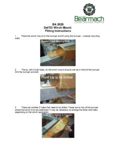 BA 2028 – Winch Plate 90-110