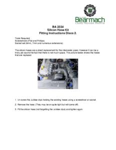 BA 2334 – Silicone Hose Kit TD5