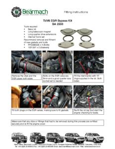 BA 2338 – EGR Bypass Kit