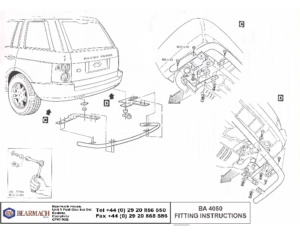 BA 4050 – Rear Bumper Protector S_Steel
